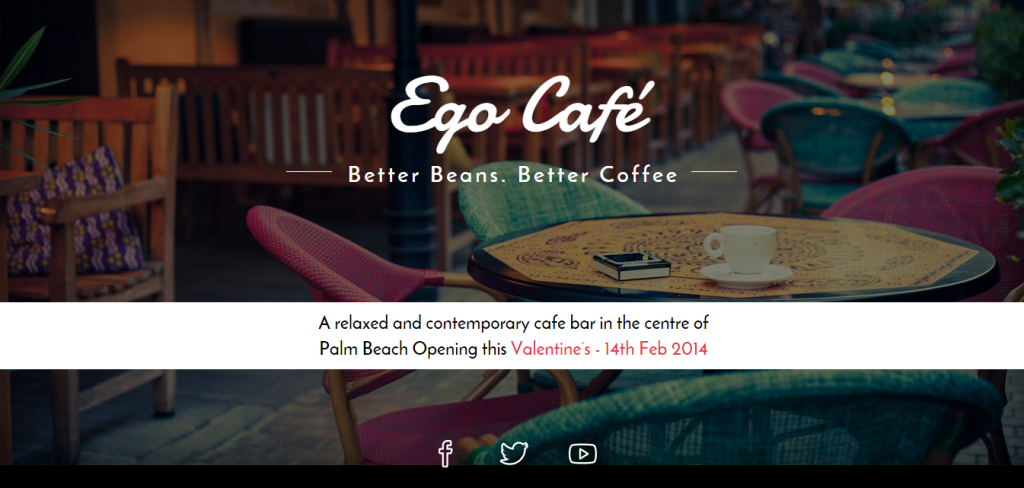 coming soon page - ego cafe