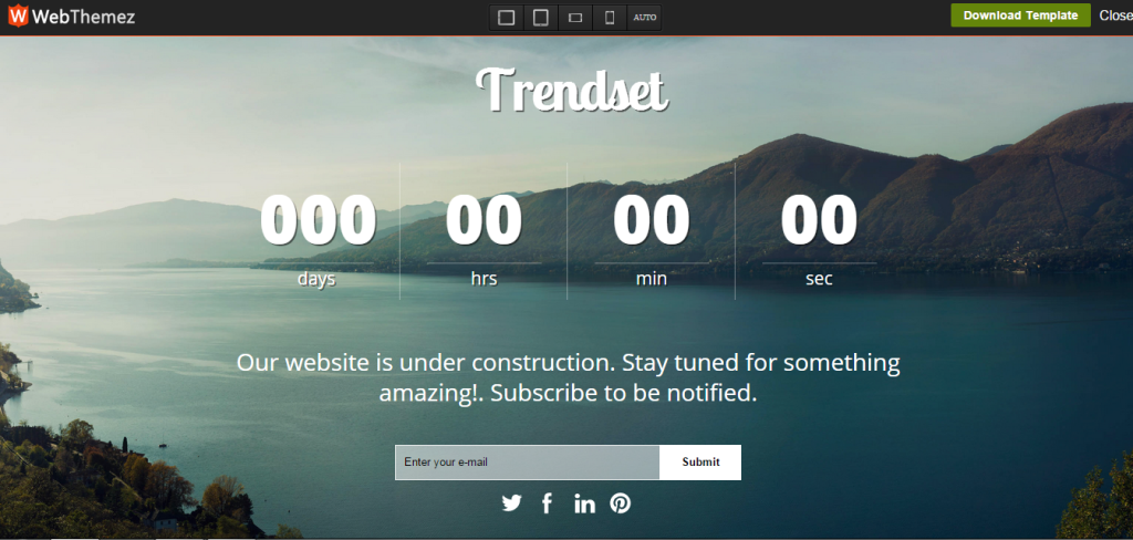 coming soon page - trendset