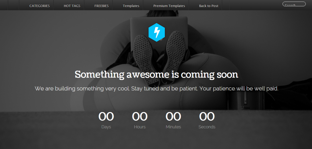 coming soon page - see soon