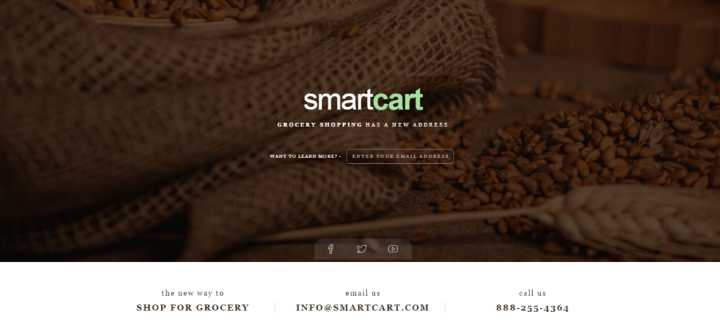 coming soon page - smartcart