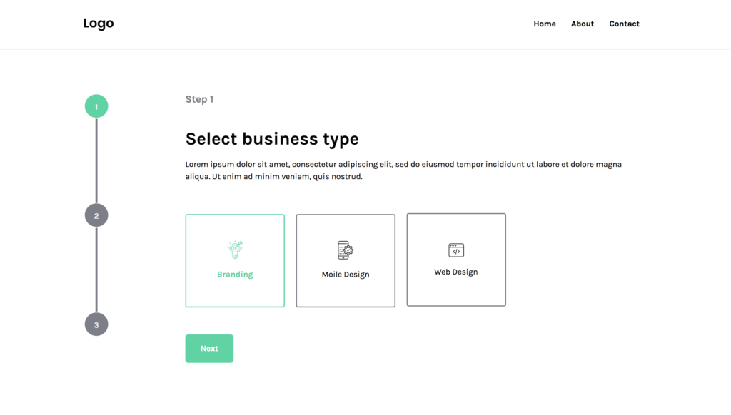 free bootstrap wizard preview