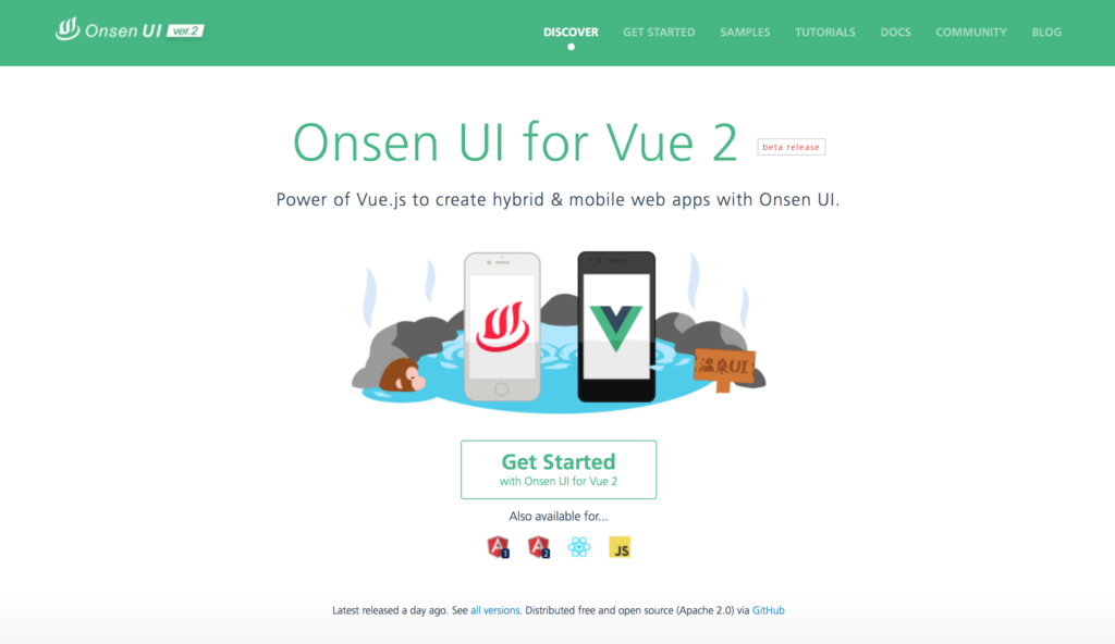 Onsen UI for Vue 2