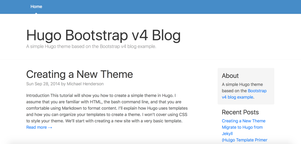 hugo-Bootstrap 4 UI Kit