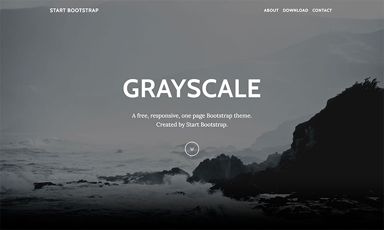 grayscale-Bootstrap 4 UI Kit