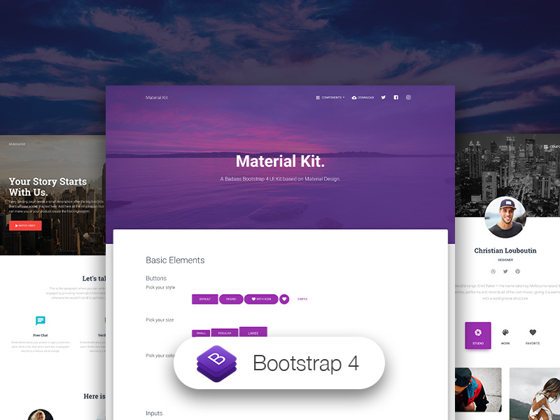 material kit-Bootstrap 4 UI Kit