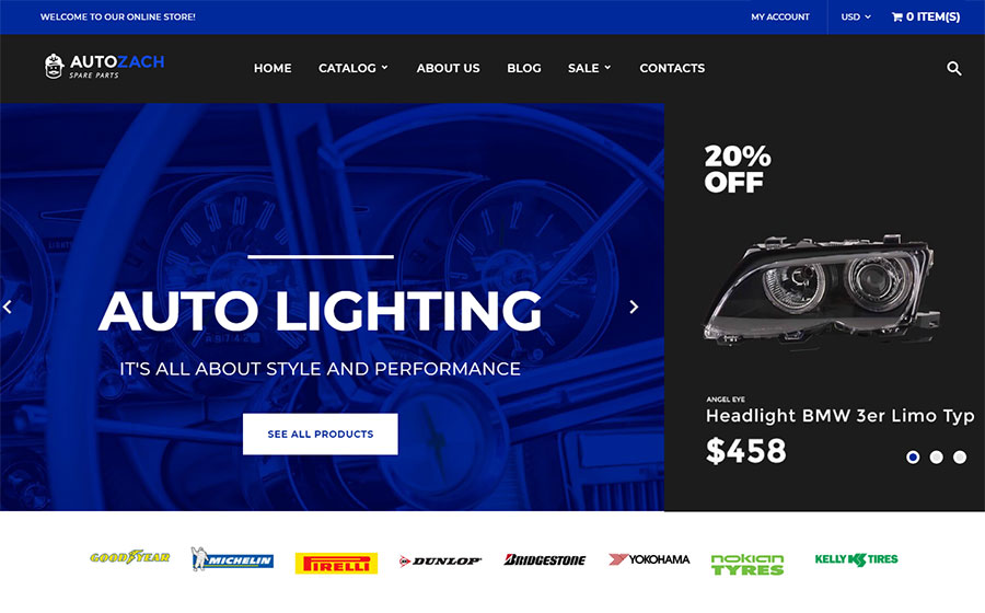AutoZach - Auto Parts Shopify Theme