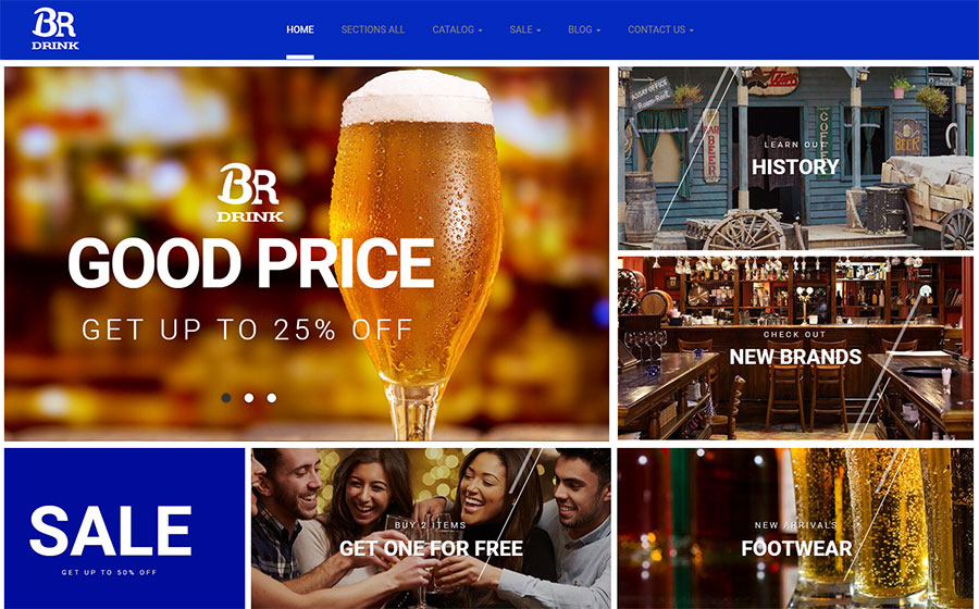 BR Drink - Original Alcohol Online Store Shopify Theme
