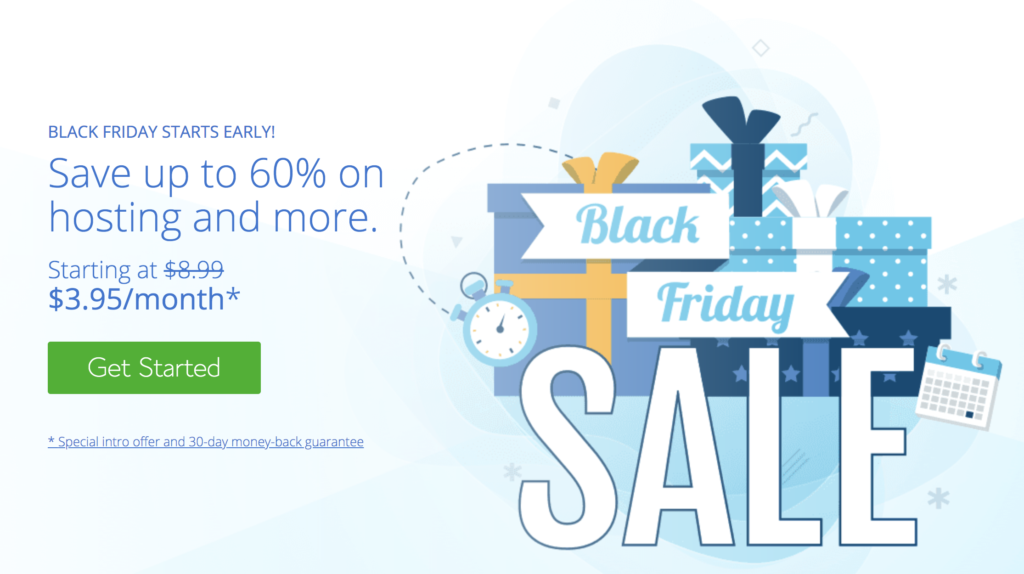 bluehost - black friday