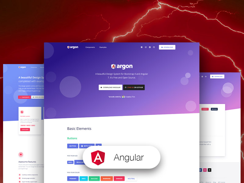 argon angular 2 admin templates