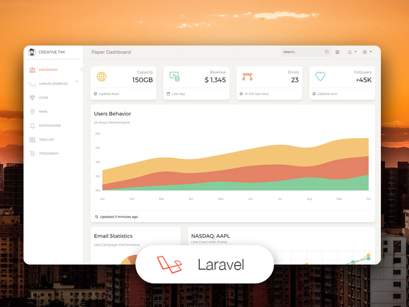 Paper Dashboard Laravel