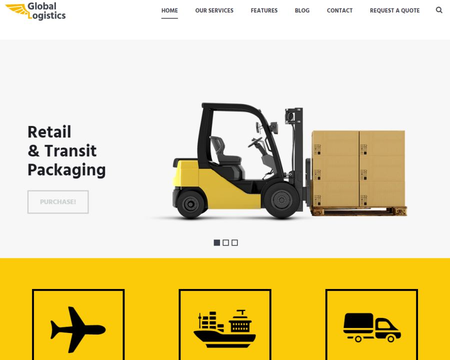 Global Logistics Transportation HTML Template