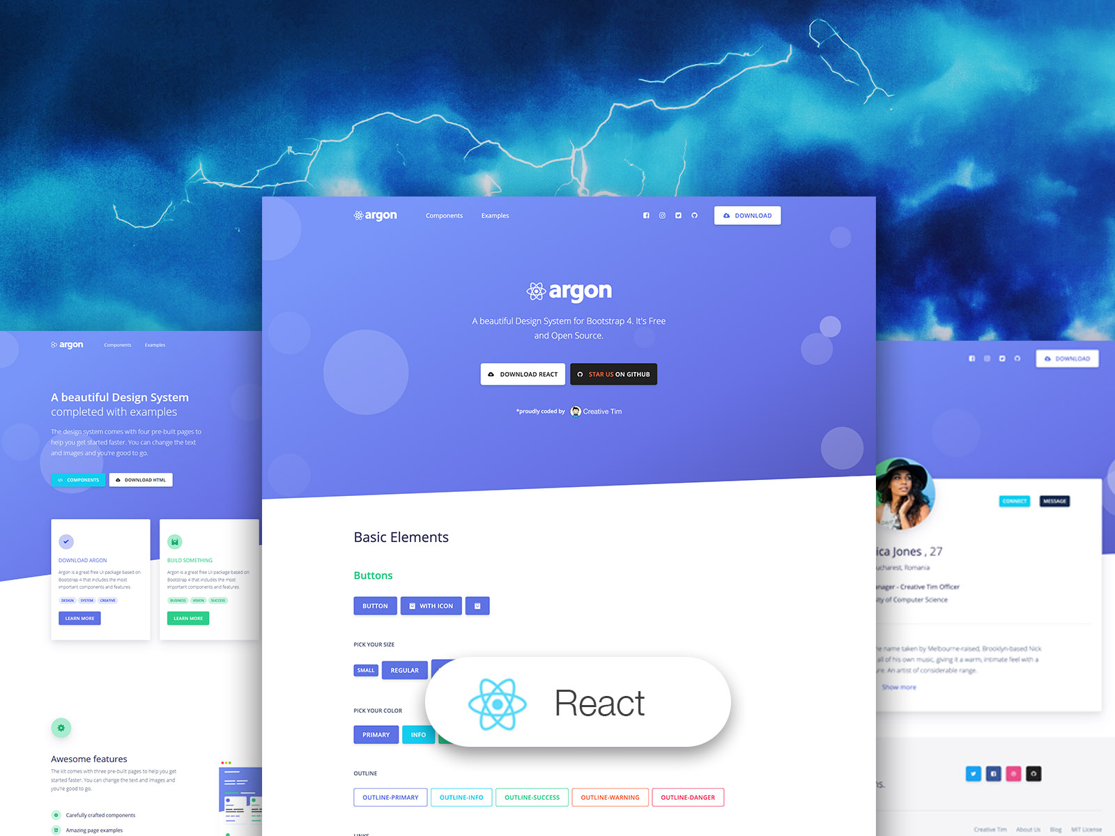 Argon Design System React