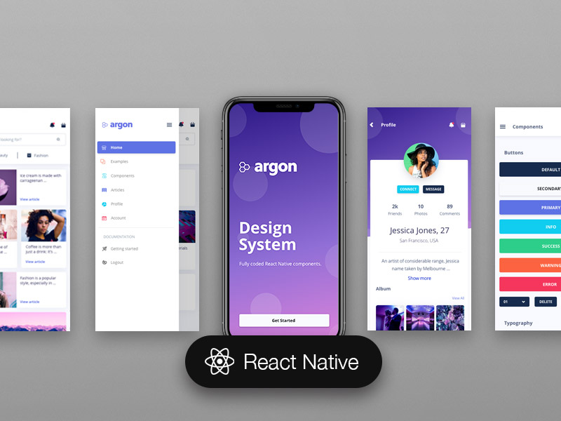 Argon React Native Bootstrap 4 UI Kit