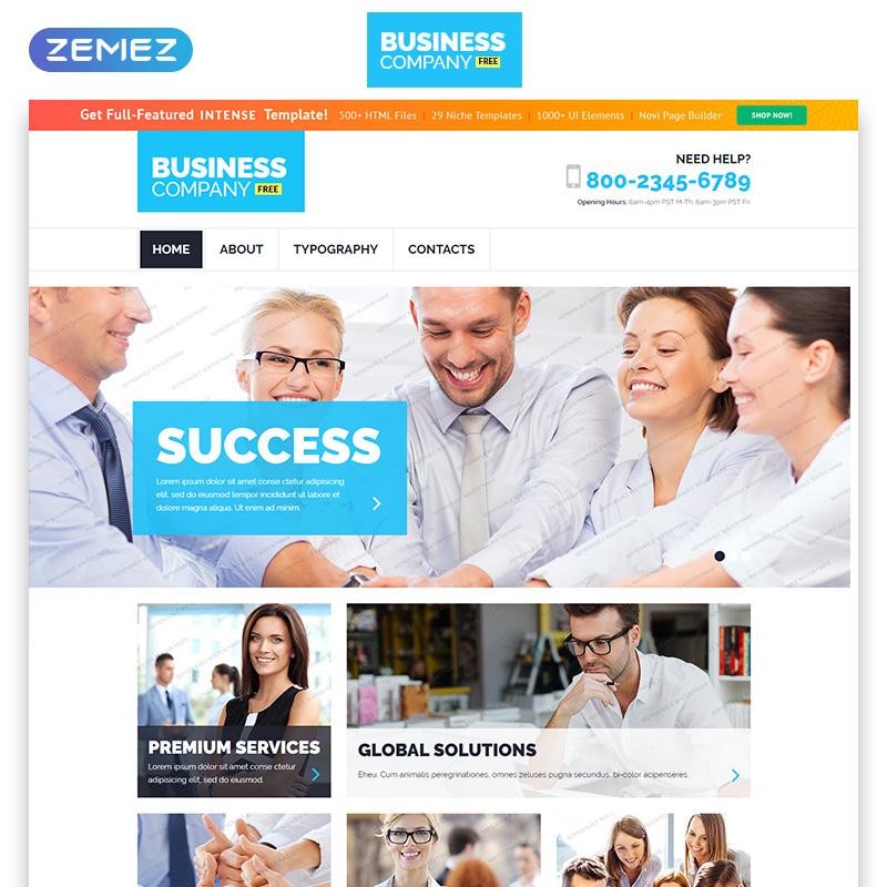 Free Business Responsive Template