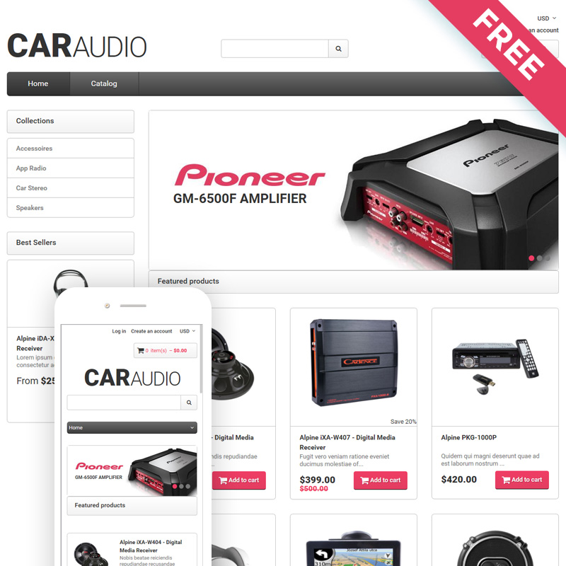 CarAudio - Car Parts eCommerce Clean Shopify Theme
