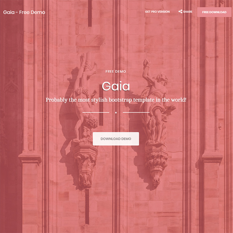 Gaia Bootstrap Template FREE BOOTSTRAP TEMPLATE