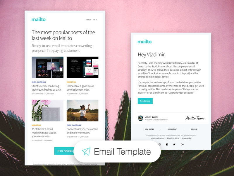 Mailto Free Fully Responsive Html Email Templates Creative Tim