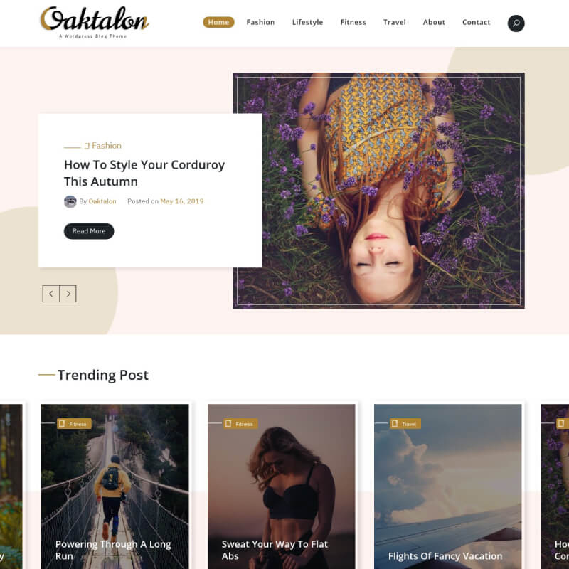 Oaktalon WordPress Theme