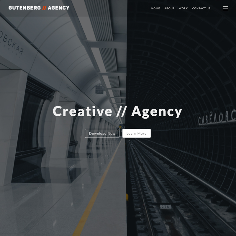 Gutenberg Agency WordPress Theme