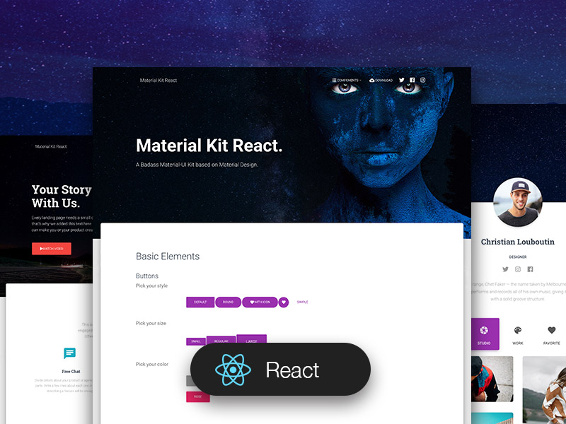 material kit react.js
