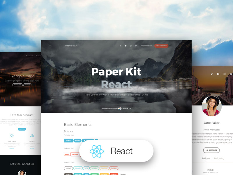 9 Top React Js Free Templates Creative Tim S Blog