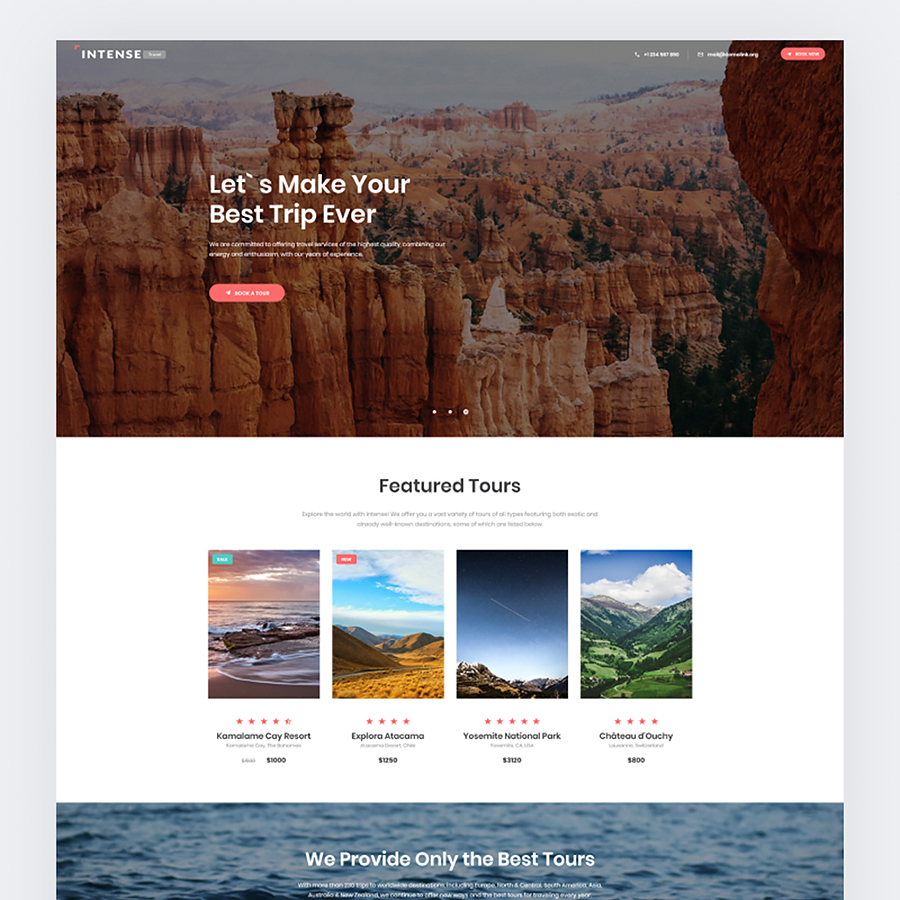 Online Travel Agent Landing Page Template