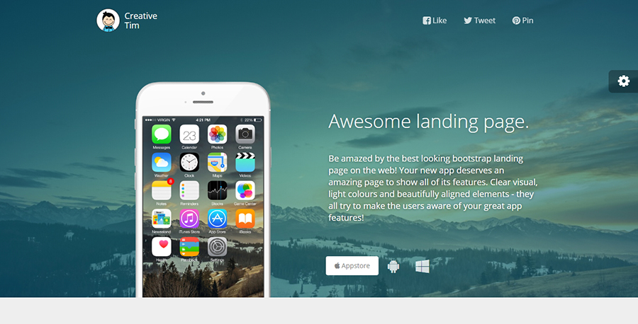 Awesome - Free HTML Landing Page Design