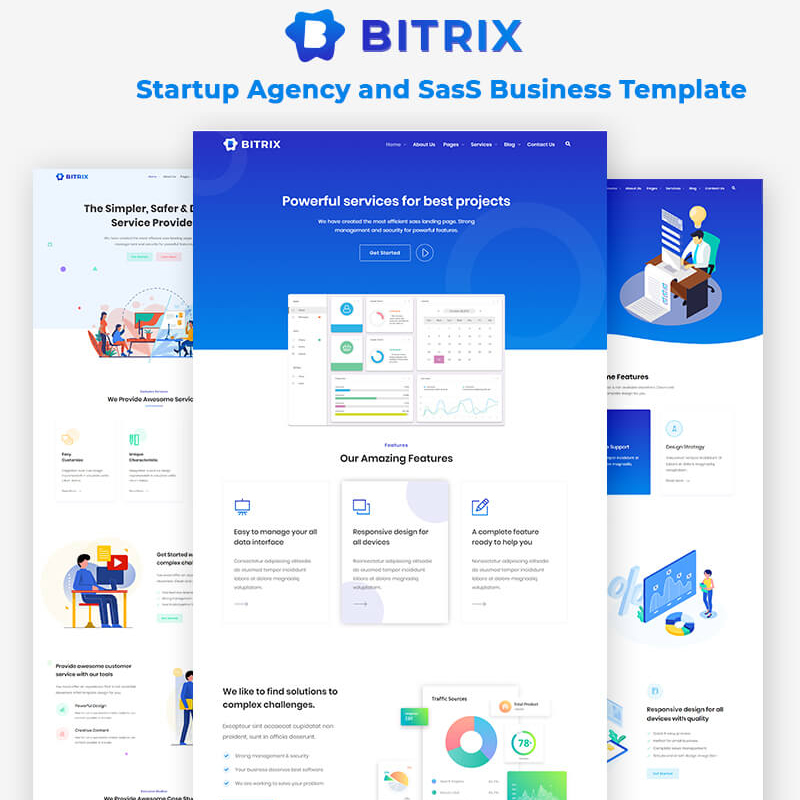 Bitrix - Startup Agency and SasS Business Website Template