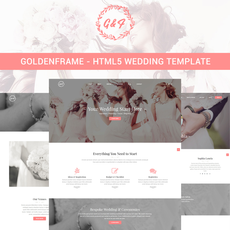 Goldenframe - Wedding Website Template