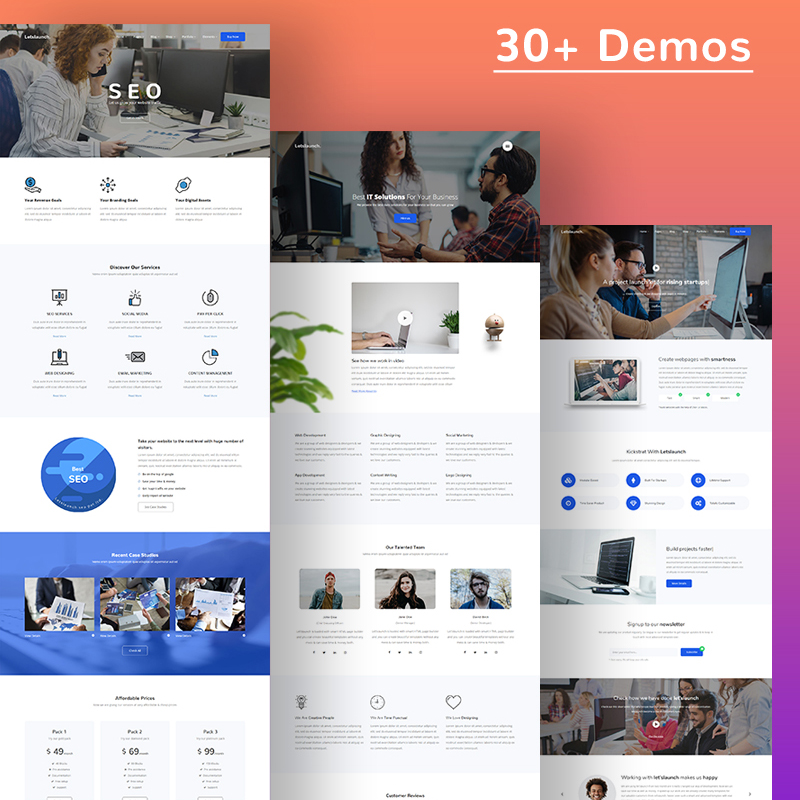 Letslaunch - Responsive Multipurpose HTML5 Website Template