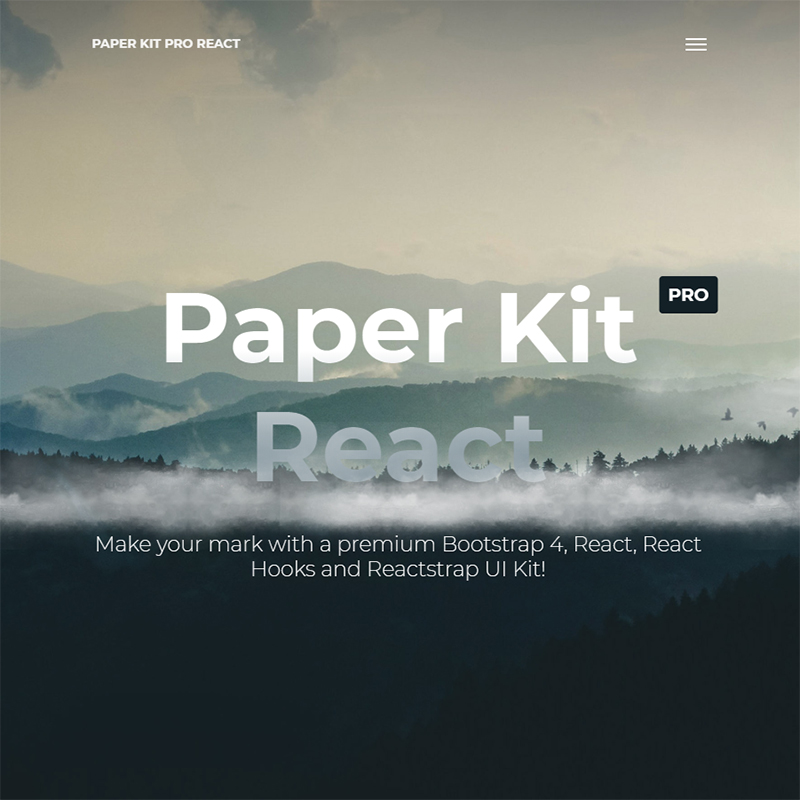 Paper Kit Pro React - Premium Bootstrap 4 And Reactstrap UI Kit