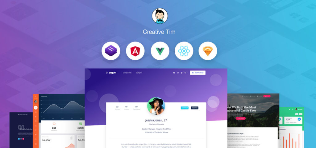 creative tim productivity tools