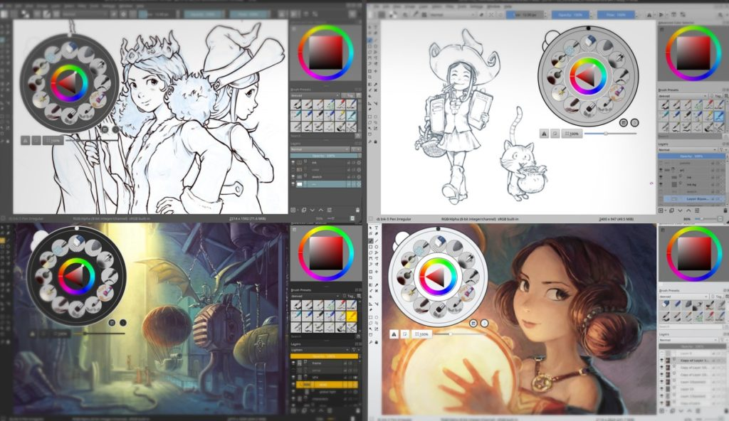 illustration tools krita