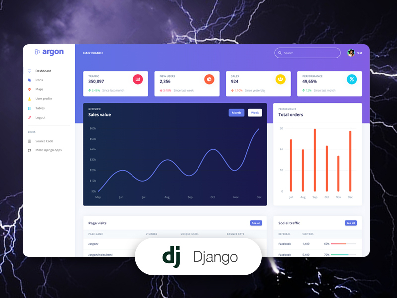 argon dashboard django