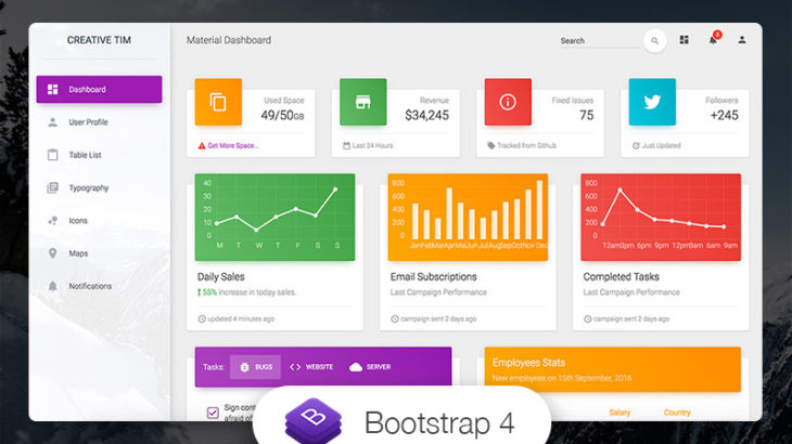 free dashboard templates