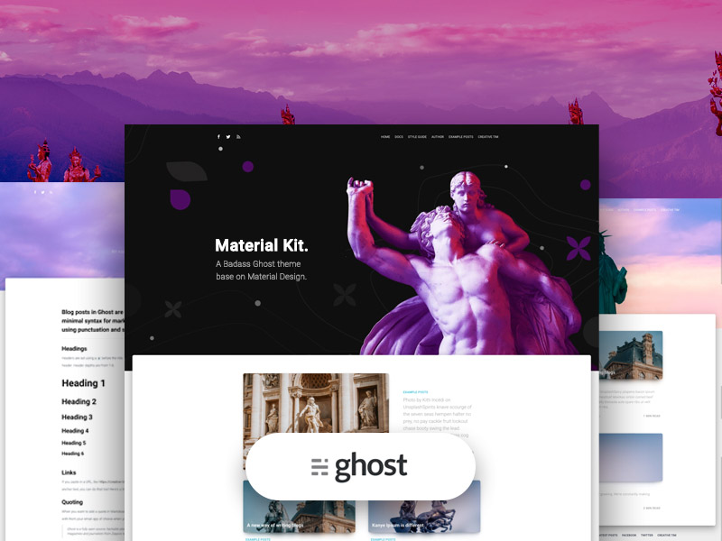 material-kit-ghost-creativetim