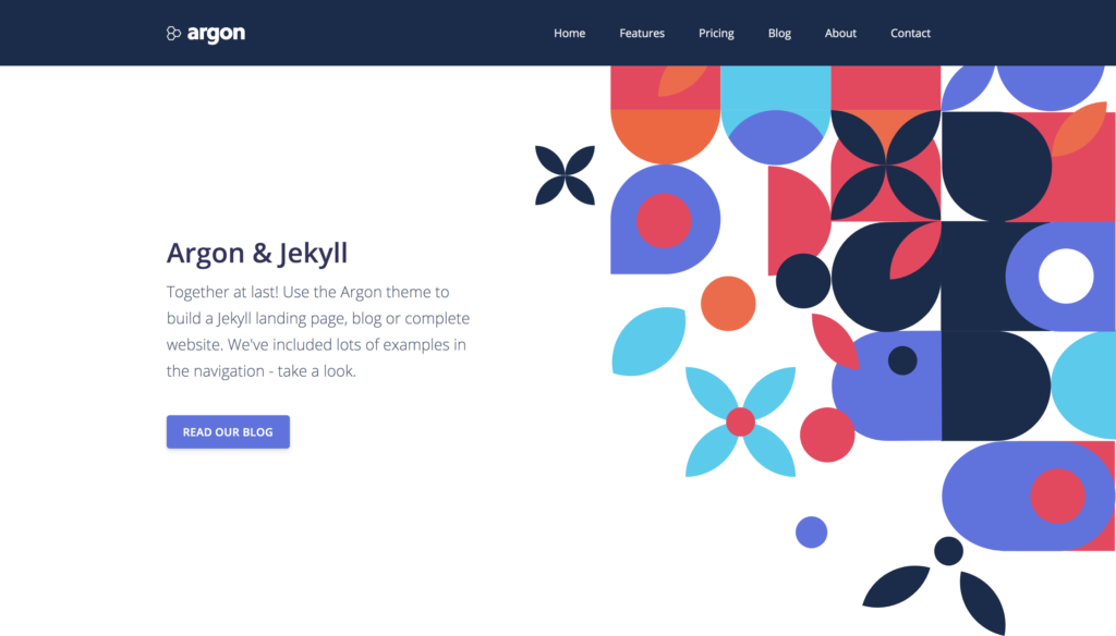 argon jekyll theme preview