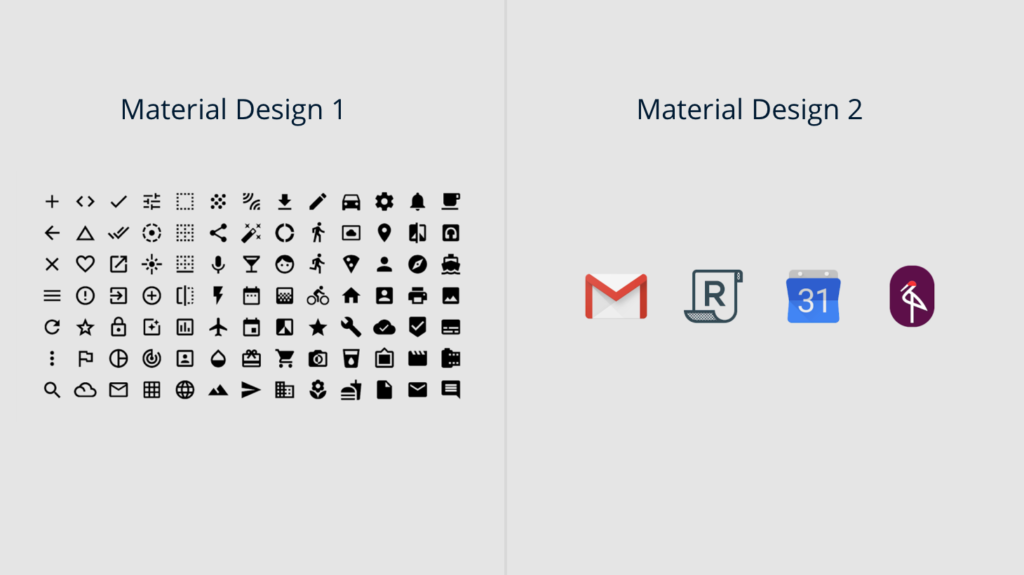colorful icons material design